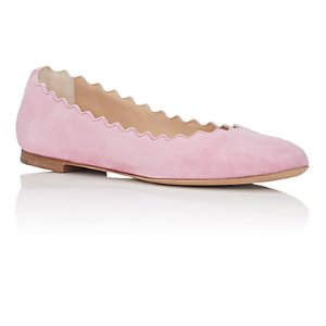 Chloé 麂皮花瓣鞋 | Barneys Warehouse