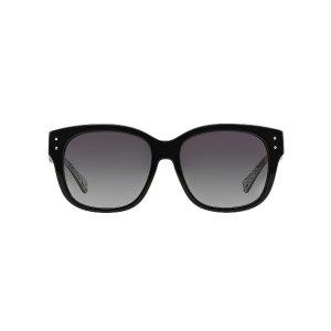 Coach HC8086 SIENNA 56 Grey & Multicolor Polarized Sunglasses | Sunglass Hut USA