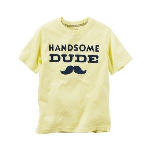 Baby Boy Handsome Dude Graphic Tee   Carters.com