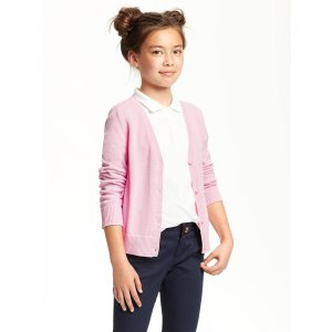 Uniform V-Neck Cardi for Girls | Old Navy