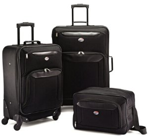 $79American Tourister Brookfield Black 3 Piece Luggage Set (21