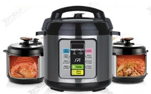 Extra 16% Off SUNPENTOWN Electric Pressure Cooker 6.5 Quart EPC-11A