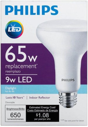 $14.99Philips BR30 65 Watt Equivalent Dimmable Daylight LED Bulb 4 Pack