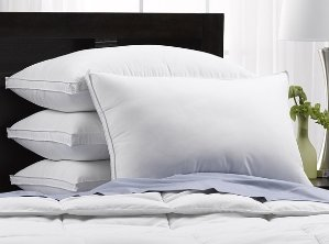 4-Pack Exquisite Hotel Collection Soft Gel Fiber Pillows-3 Sizes