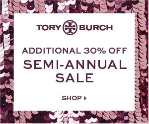 Last Day! Up to 70% Off + Extra 30% Off Sale itemsSemi- Annual Sale @ Tory Burch