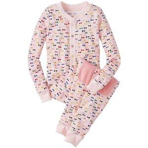 Kids Union Suit Pajamas in Organic Cotton | Sale Girls Sleepwear