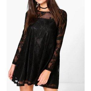 Lillyanna Lace Trapeze Dress