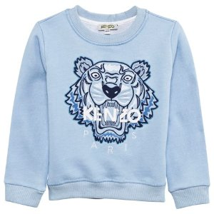 Kenzo Kids Pale Blue Embroidered Tiger Sweatshirt | AlexandAlexa