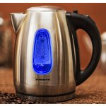 Ovente 1.7 Liter BPA Free Stainless Steel Cordless Electric Kettle, Brushed (KS96S)