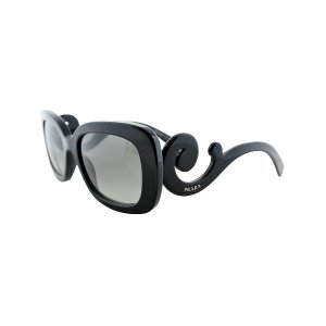 Black Swirl Square Sunglasses