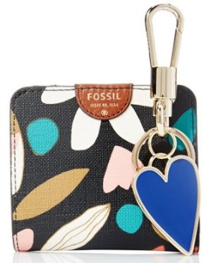 Fossil Bifold and Keyfob Boxed Gift Set Wallet