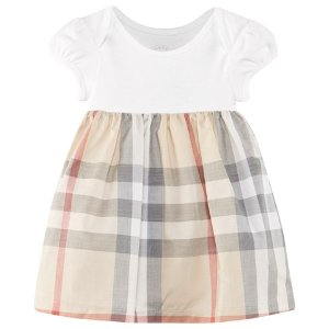 Burberry Pale Stone and Classic Check Dress | AlexandAlexa