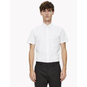 Fine Cotton Slim Short-Sleeve Shirt