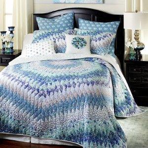 Starburst Blue Quilt & Sham | Pier 1 Imports