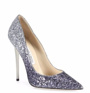 Jimmy Choo Romy 100 Glitter Degrade Point-Toe Pumps @ Saks Fifth Avenue