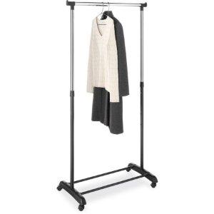 Whitmor Adjustable Garment Rack, Chrome/Black