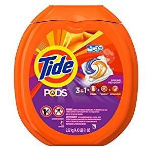 史低$13.09包邮Tide PODS 汰渍果冻洗衣球,81个装