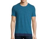 Burberry Brit Seersucker-Pinstripe Short-Sleeve T-Shirt, Lupin Blue