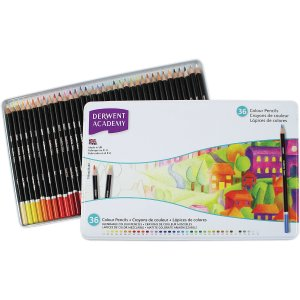 Derwent® Academy® Deluxe 36 Colour Pencils Tin (2300225) - MEAD
