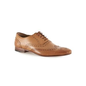 Tan Leather Oxford Brogues - Men's Shoes - Shoes and Accessories - TOPMAN USA