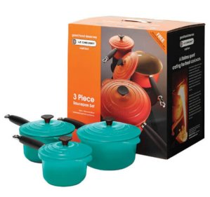 Le Creuset Cast Iron 3 Piece Saucepan Set