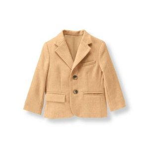 Baby Boy Camel Wool Blend Suit Blazer at JanieandJack