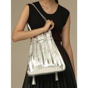 Joseph & Stacey Lucky Pleats Shopper Bag Cracked Silver