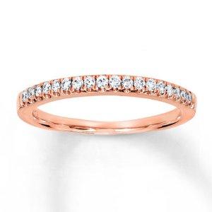 Kay - Diamond Wedding Band 1/5 ct tw Round-cut 14K Rose Gold