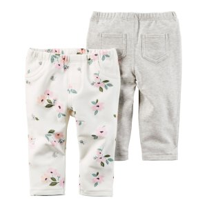 Baby Girl 2-Pack Pants | Carters.com