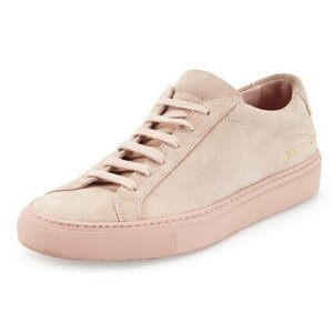 Common Projects Achilles Suede Low-Top Sneaker, Taupe