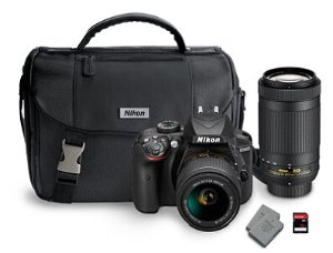 Start! $499 Nikon D3400 DX Bundle with AF-S DX NIKKOR 18-55mm and 70-300mm Lens