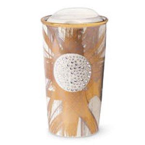 Limited Edition Gold Shine Traveler adorned with Swarovski® crystals | Starbucks® Store