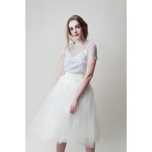 Alexandra Grecco 象牙白半身纱裙