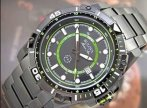 $86.99 Bulova Men's 98B178 Marine Star Black and Green Dial Stainless Steel Watch