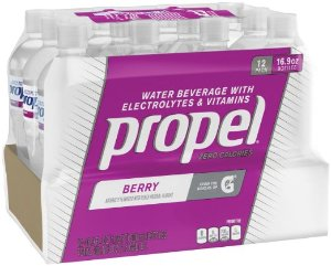 Propel, Berry, Zero Calorie Sports Drinking Water with Antioxidant Vitamins C & E, 16.9 Ounce Bottles (Pack of 12)