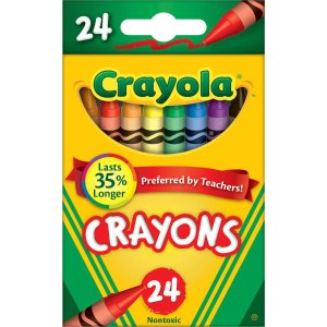 $0.5 Crayola Classic Color Pack Crayons, 24 count