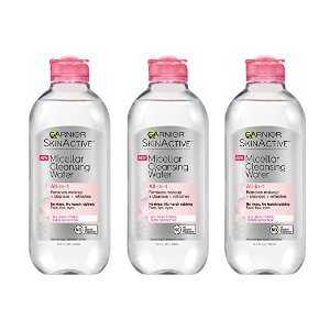 Garnier Skin Skinactive Micellar Cleansing Water All-In-1 Cleanser and Makeup Remover, 13.5 Fluid Ounce (Pack of 3)