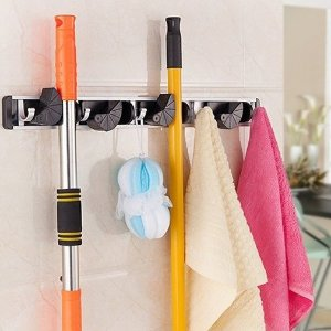 $12.74 GWHOLE Mop and Broom Holder