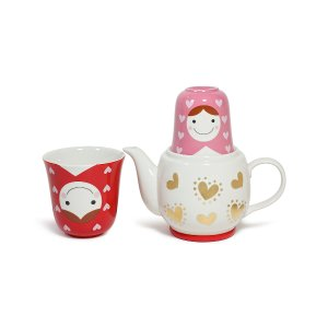 Miya Company Red Matryoshka Tea for Two Teapot Set | zulily