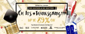 Up To 89% Off THANKSGIVING @ Sasa.com