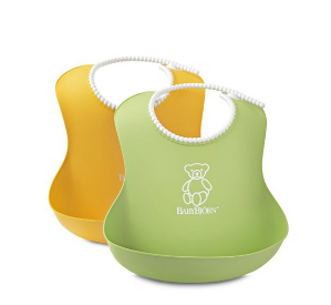 $14.01(reg.$18.95) BABYBJORN Soft Bib, Green/Yellow, 2 Pack