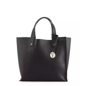Furla Musa Medium Leather Tote Bag, Onyx