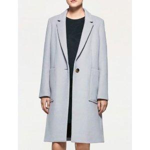 Calvin Klein platinum 女士系扣大衣