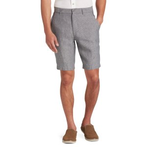 Joseph Abboud Grey Chalk Stripe Tailored Fit Shorts