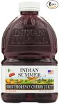 $23.73 Indian Summer 100% Juice, Montmorency Cherry, 46-Ounce Containers (Pack of 8