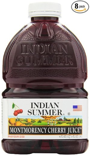 Indian Summer 100% Juice, Montmorency Cherry, 46-Ounce Containers (Pack of 8
