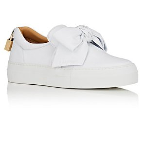 Buscemi 40MM Bow Leather Sneakers | Barneys New York