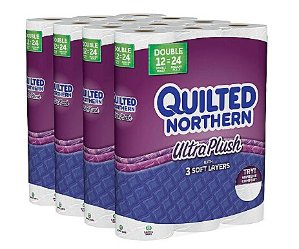 $19.99 Quilted Northern Ultra Plush Bath Tissue, 3-Ply, 48 Double Rolls