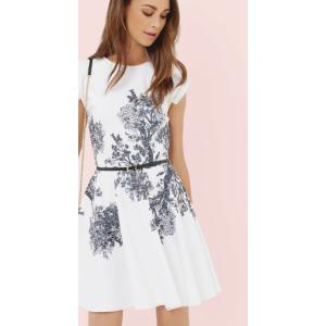 Woodland Toile skater dress - White | Dresses | Ted Baker