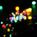 LuckLED E7Z1UASE 200 Solar Powered LED String Lights 72-ft Multi-Color
